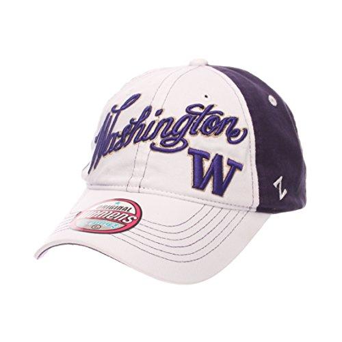 ZHATS NCAA Washington Huskies Adult Women Vogue Women's Relaxed Hat, Adjustable, White/Team Color