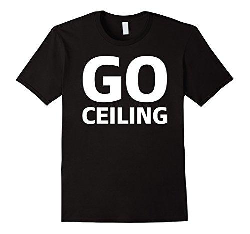 Men's Go Ceiling Fan Funny Simple Halloween Costume T-Shirt Tee 3XL Black ()
