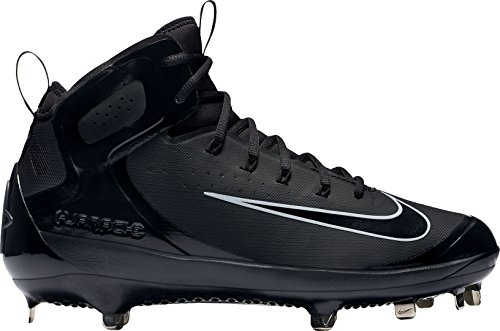Nike Men's Alpha Huarache Elite Mid Baseball Cleats (7.5, Black)