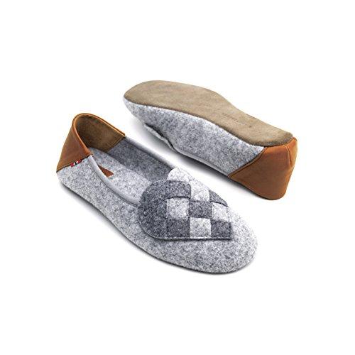 A. Andreassen Luxury Womens Elskling Slippers Italian Wool Felt Memory Foam Comfort Footbed uU1WGE