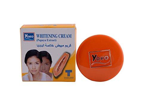 CosmiCare YOKO Papaya Whitening Lightening Cream Reduce Dark Spots Melasma 4 Grams