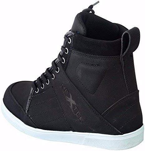 bt-107 aus reinem Leder Wasserdicht Herren Jungen Boots Schuhe Sneaker Casual Racing Sport Touring Cruise Full Black