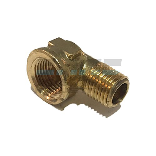 "EDGE INDUSTRIAL Forged Brass 90 Degree REDUCING Street Elbow 3/8"" Female NPT X 1/4"" Male NPT Fuel/AIR/ Water/Oil/ Gas WOG"