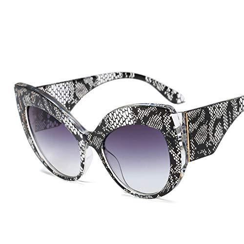 Women Oversized Sunglasses Cat Eye Vintage Retro Bold Designer Statement Shades (Snake ()