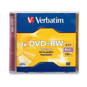 (Verbatim DVD+RW, 94520, 4.7GB, 4X, Branded, Jewel Case, TAA [Non - Retail Packaged])