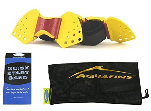 TheraBand Aquafins Aquatic Exercise Kit For Water Resistance Training for Upper/Lower Body, Pool Physical Therapy, Water Aerobics Equipment, 2 Fins, Mesh Bag, and Quick Start Exercise Instructions Performance Health 40048