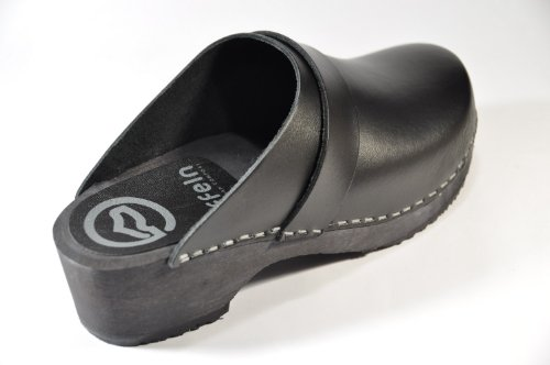 Toffeln - Sabots en cuir - semelle hêtre - Toffeln 310 - noir - taille 36
