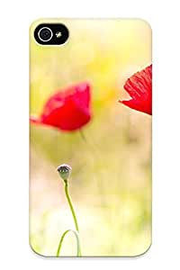 New Premium Runandjump Poppy Flowers Skin Case Cover Design Ellent Fitted For Iphone 4/4s For Lovers