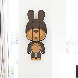 MCC Wall Clock Fashion Lovely Woody Creative Animal Personality Clock Gift , rabbit , 3252cm