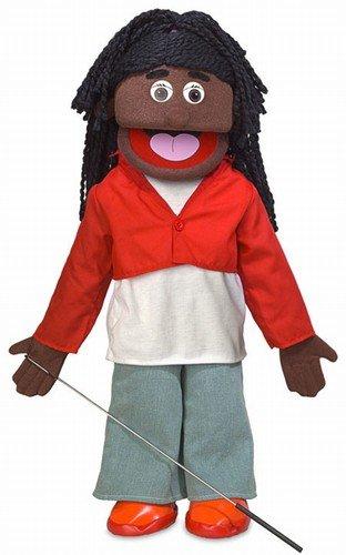 25'' Sierra, Black Girl, Full Body, Ventriloquist Style Puppet