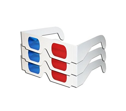 Blue White Cardboard Glasses Pairs product image