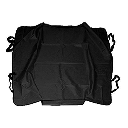 DOBO/® Telo NERO copri sedile posteriore impermeabile waterproof cover per auto macchina protezione peli graffi per cani gatti pet animali con doppie cinghie poggiatesta e bordini centrali 120x120 cm