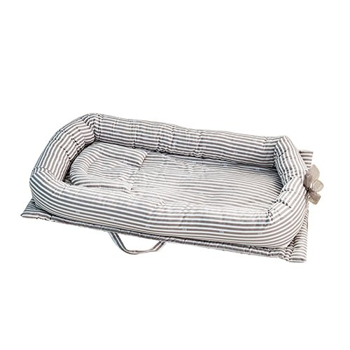 Keebgyy Baby Bassinet for Bed, Portable Baby/Infant/Newborn/Toddler Travel Bed Crib, Breathable and Hypoallergenic Sleep Nest Newborn Lounger Pillow by Keebgyy
