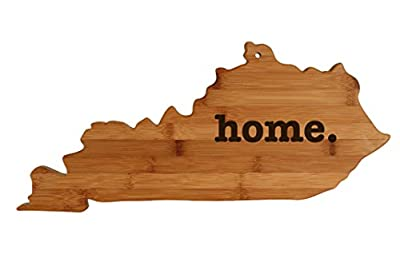 Kentucky State Shaped Bamboo Wood Cutting Board Engraved home. Personalized For New Family Home Housewarming Wedding Moving Gift