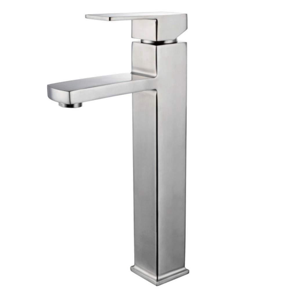 Edelstahl Einhand Wasserhähne Küche Edelstahl Gesicht Becken Wasserhahn Quadrat Einloch-Gesicht Becken Kalt Und Heißem Wasserhahn