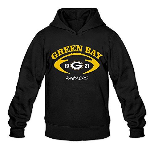 AK79 Men's Sweater Green Bay Logo Packers Size L Black