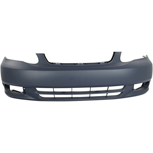 New Evan-Fischer EVA17872050592 Front BUMPER COVER Primed for 2003-2004 Toyota Corolla (Cover Front Replacement Bumper)