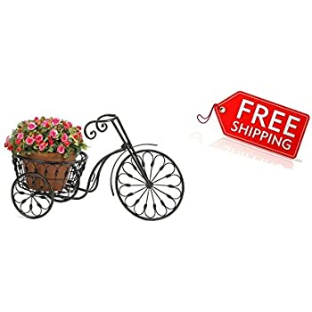 Outdoor Decor Bicycle Suitable For Garden And Yard Ornament Metal Plant  Stand