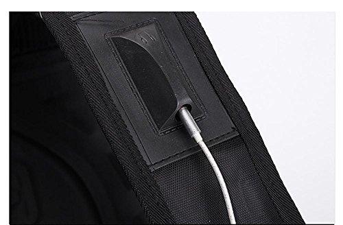 15,6 Zoll Business Laptop Rucksack wasserdicht und langlebig reißfest Reisetasche Schule Daypack Größe: 50x36x18 CM black