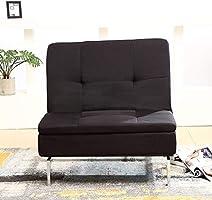 Bristole adjustable back fabric chair, black