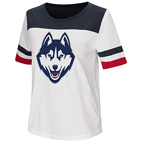 Uconn Huskies T-shirt - UConn Huskies Women's Colosseum Show Me The Money T-Shirt - Junior Women - M (8-10)