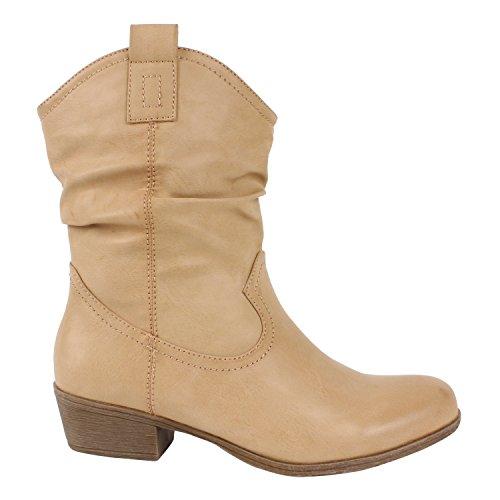 Japado - Botas De Vaquero Mujer Marrón - marrón claro