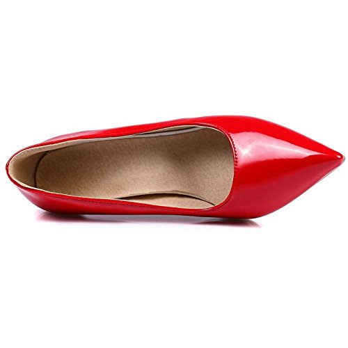 6 Basic on Colors Red Heel Zanpa Court 8CM Slip Shoes Women 5S0qY