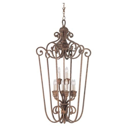 Sea Gull Lighting 51257-758 Highlands Hall and Foyer Fixture, Regal (Regal Nine Light Chandelier)