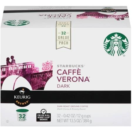 Starbucks Coffee Co. Caffe Verona Dark Roast Ground Coffee K-Cups, .42 oz, 32 count (Italian Roast K Cups Starbucks compare prices)