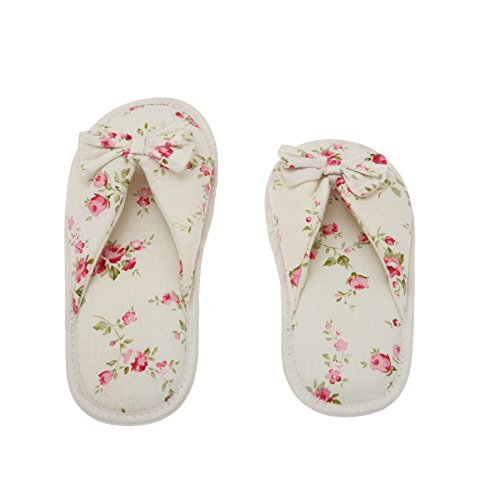 DeluxeComfort Printed Cotton Women Memory Foam Slipper with