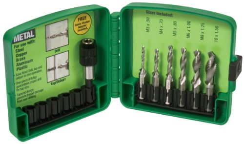 Greenlee DTAPKITM M3-M10 6-Piece Combination Drill and Tap Set by Greenlee