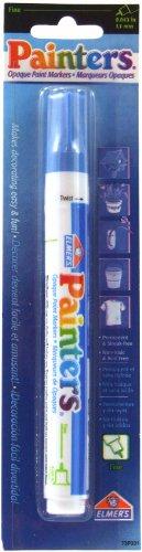 ELMERS Painters Opaque Acrylic Fine Tip Paint Marker, Blue (7334) -