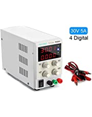 Best DC Bench Power Supply, Pevono PS305H 30V/5A 4 Digital LED Desktop Switching Variable Power Supply Voltage&Current Regulated Supply Power Source for Lab Repair,Electronic Tester, Power Calculator