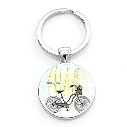 Amazon.com  Key Chains - New Keep Calm and Love Cycling Keychain ... ad8f6ffe76