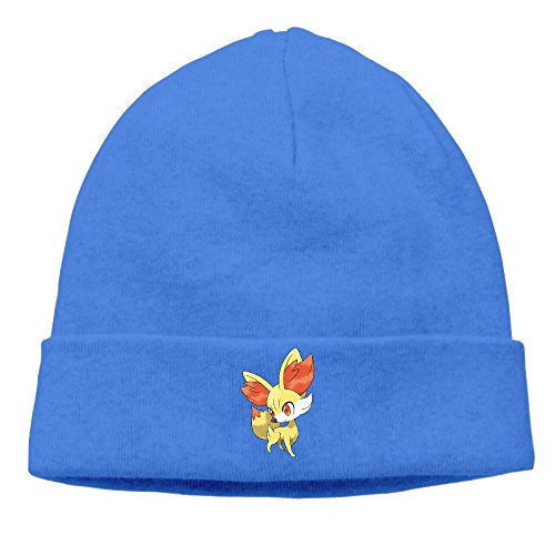 [EWIED Men's&Women's Fennekin Poke Patch Beanie GolfRoyalBlue Caps For Autumn And Winter] (Devil Costums)