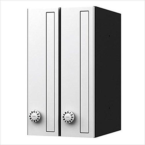 ナスタ KS-MB3001P-2LT 集合住宅用ポスト 前入前出タイプ タテ型 静音大型ダイヤル錠 戸数2 樹脂タイプ KS-MB3001P-2LT-W 屋内用 ホワイト B01LZV9Y9M 11700
