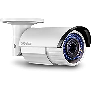 TRENDnet Indoor/Outdoor Bullet Style 2 Megapixel 1080p Varifocal PoE IR Network Camera, IP66 Rated Housing, Adjustable Lens, Manual Zoom, Digital WDR, TV-IP340PI, 2 MP