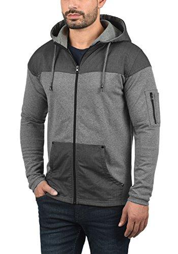 8236 Éclair Fermeture solid Grey Melange Sweat Sweat Homme Tarias Veste Pour Avec Capuche Zippé En shirt À qwCqax7rOn