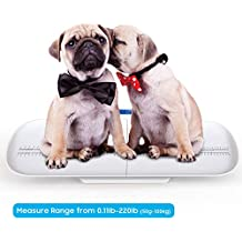 Pet Scale, Multi-Function Digital Baby Scale to Measure Dogs, Cats, Adults Weight Accurately(Max: 220 lbs), with 3 Weighing Modes, Holding Function, Blue Backlight, Height Tray(Max: 29 inch)