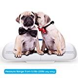 Baby Scale, Digital Pet Scale, Toddler Scale, Infant Scale with Kg/Lb/Oz to Measure Babies/Pets Accurately(Max: 220 lbs) and Holding Function, Blue Backlight, Height Tray(Max: 29 inch)