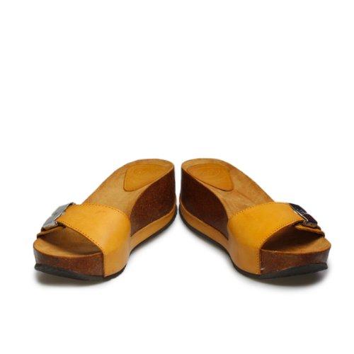 de negro negro Sandalias de marrón cuero canela vestir para mujer Scholl qUt6877