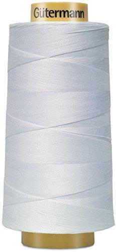 Gutermann 3000C-5709 Natural Cotton Thread Solids, 3281-Yard, White from Gutermann