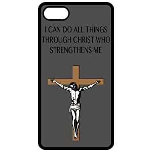 I Can Do All Things Through Christ Who Strengthens Me - Religious - Religion Black Iphone 4 - Iphone 4s Cell Phone Case - Cover 46