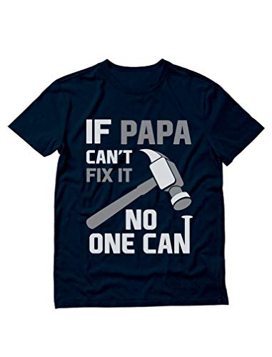 Number One Grandpa T-shirt - If PAPA Can't Fix It No One Can Funny Shirt for Grandpa Dad Fathers T-Shirt X-Large Navy