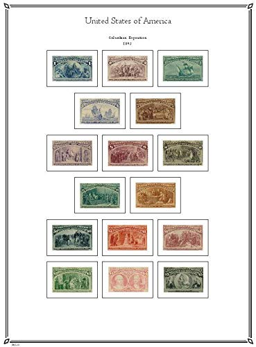 PALO United States 1847-1940 hingeless Stamp Album Pages