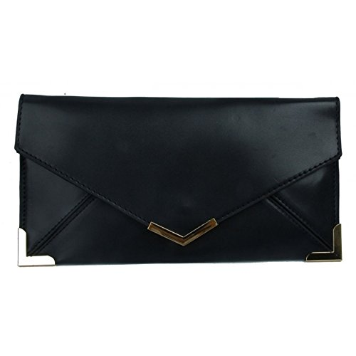 Craze London - Cartera de mano para mujer Faux -Black