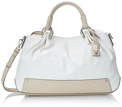 Nine West Fresh Folds Satchel Top Handle Bag, Snow Petal, One Size
