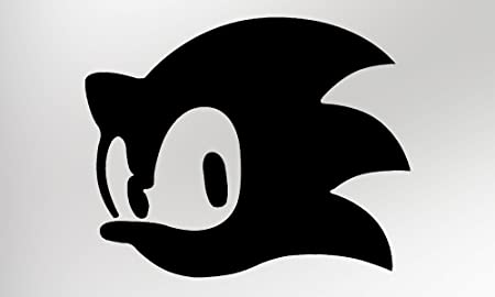 Sonic The Hedgehog Black Vinyl Decal Sticker Pack Of Two Amazon Co Uk Kitchen Home