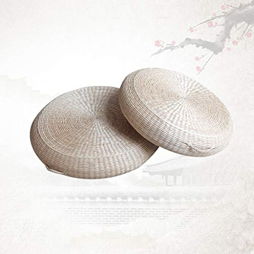 RXY-Wicker chair Summer Cool and Ventilated Round Japanese Style Thick Rattan Cushion Meditation Tea Ceremony Coffee Table Cushion [1pack] (Size : 40cm) by RXY-Wicker chair (Image #7)