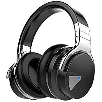 Cowin E7 Bluetooth Kopfhörer Kabellose Headset Stereo Bluetooth Over Ear Wireless Bluetooth-Kopfhörer mit Mikrofon, 30-Stunden-Spielzeit für iPhone, Android, PC und Andere Bluetooth Schwarz
